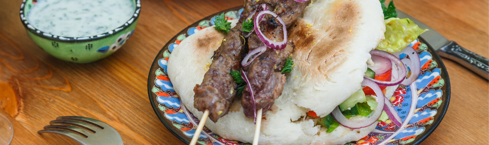 Greek Style Lamb Kebabs